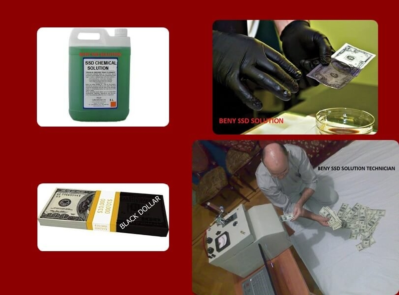 BLACK MONEY CLEANING with SSD SOLUTION CHEMICAL +9 Slika