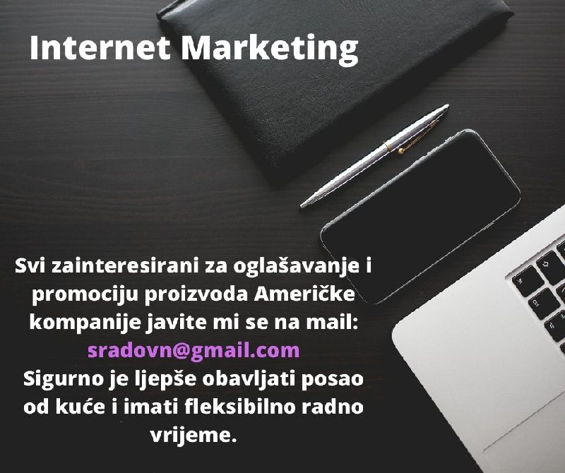 Internet Marketing(posao od kuće) Slika